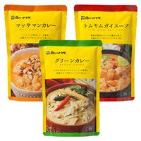 1月後半の特別お買得品<br />【肉のハナマサ】<br />グリーンカレー、マッサマンカレー、トムヤムガイスープ